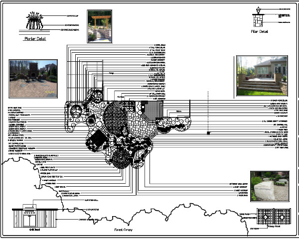 Landscape Design Detail for Solon Ohio by H&M Landscaping.