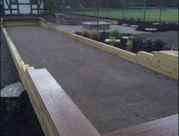 Paver Patio Bocce Ball Court Installation in Cleveland