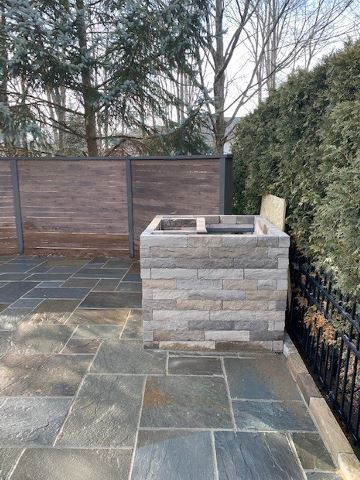 Cleveland's H&M Landscaping Belgard Outdoor Countertop Pizza Oven Installation
