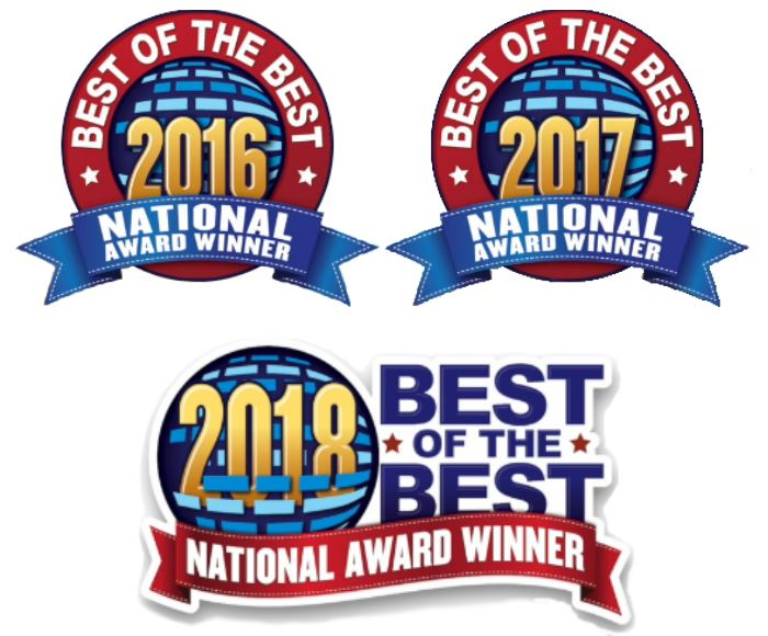 H&M Landscaping Cleveland Best of the Best Landscaper Award 2016-2018