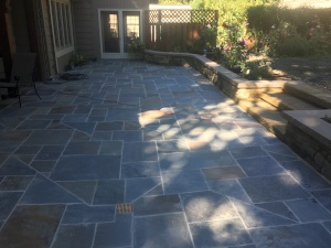 Installation of a Backyard Landscape Bluestone Patio in Shaker Heights Ohio