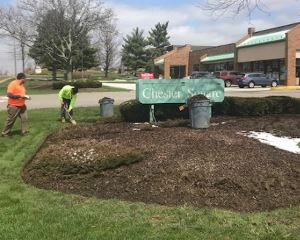 Complete Landscape Spring Clean-up & Mulching by H&M Landscaping in Cleveland, Ohio
