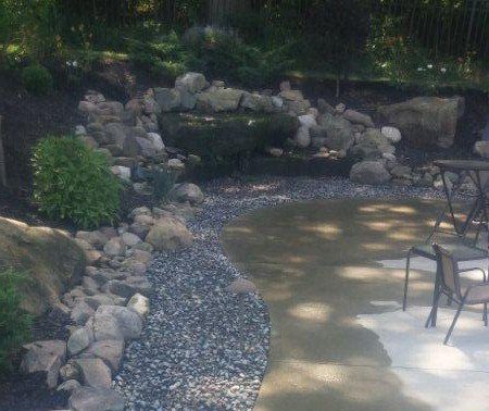 Landscape Stone Waterfall Feature in Cleveland