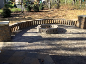 Cleveland Landscapers Install Backyard Fire Pit with Patio