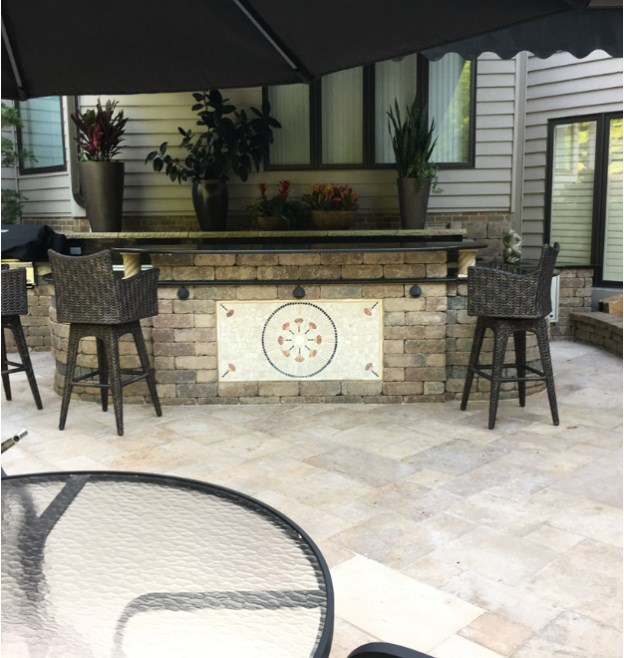 Outdoor Kitchen in the Greater Cleveland Area Installed by H&M Landscaping
