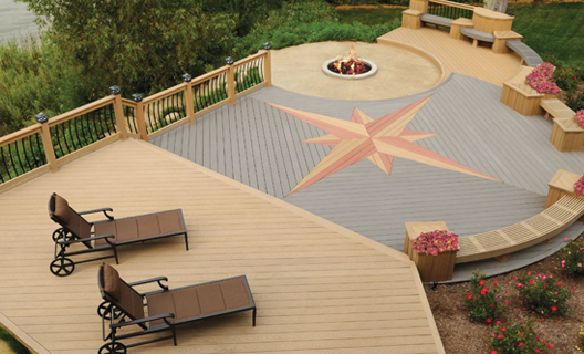 Outdoor Landscape Deck Designed & Installed by H&M Landscaping in Cleveland