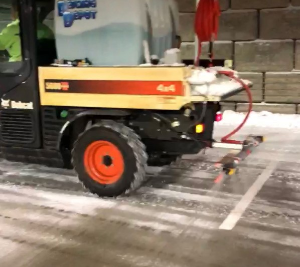 Commercial Snow & Ice Removal by H&M Landscaping