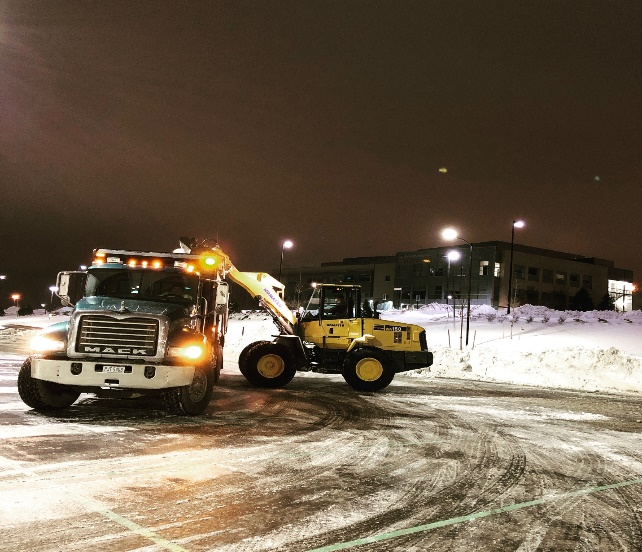 Commercial Snowplowing & Snow Removal by H&M Landscaping