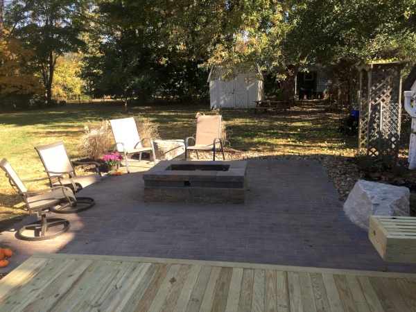 Landscape Patio Fire Pit near Cleveland