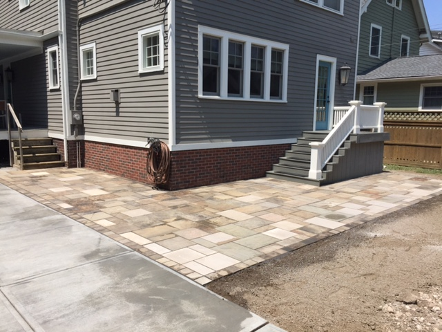 Sandstone Paver Patio Installation in Cleveland
