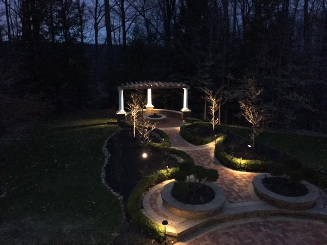 H&M Landscaping Pergolla Outdoor Lighting in Gates Mills Ohio