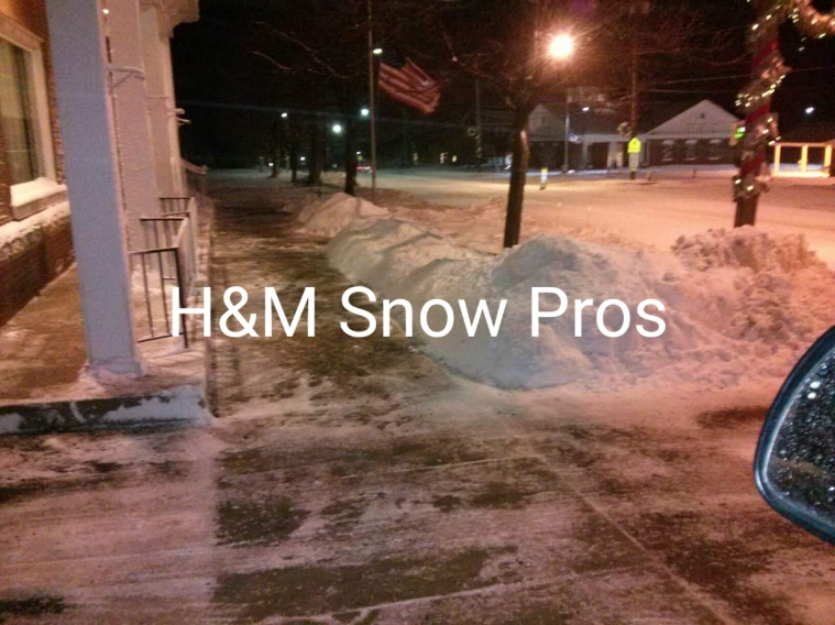 Commercial Snowplowing by H&M Landscaping