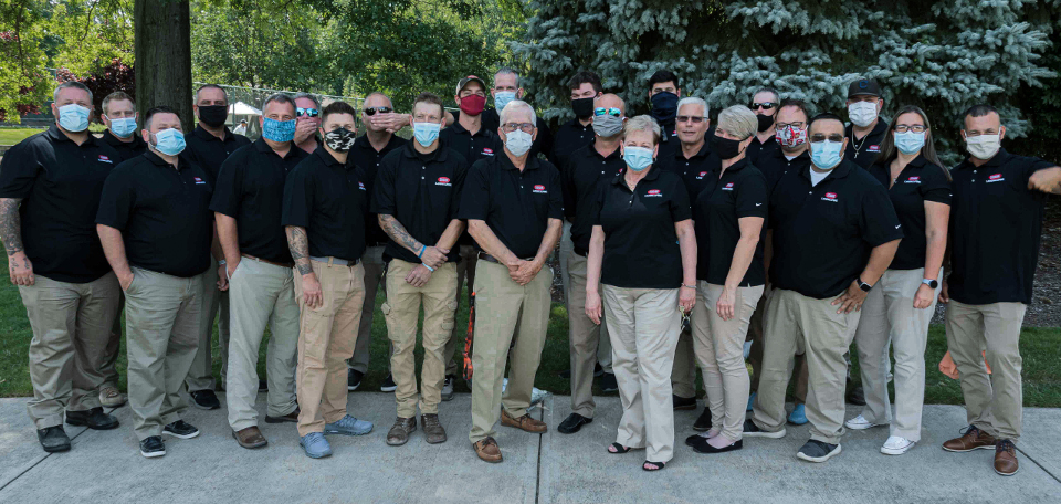 Cleveland Landscapers with Masks from the H&M Landscaping Team
