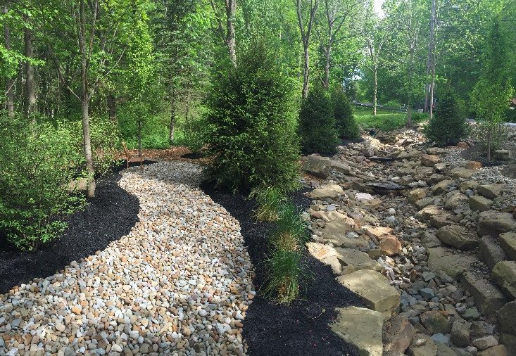 H&M Landscaping - Cleveland Mulching Install for Landscaped Beds