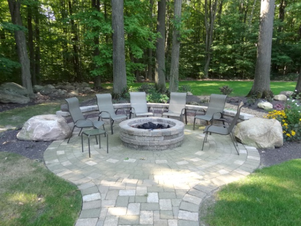 Cleveland's H&M Landscaping Outdoor Fire Pit & Patio Installation