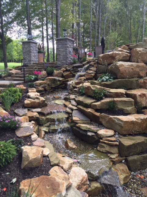 H&M Landscaping Installs Outdoor Waterfalls in the Cleveland Ohio Area