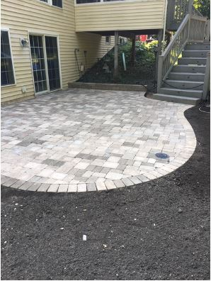 Landscaping Paver Patio Installation by H&M Landscaping