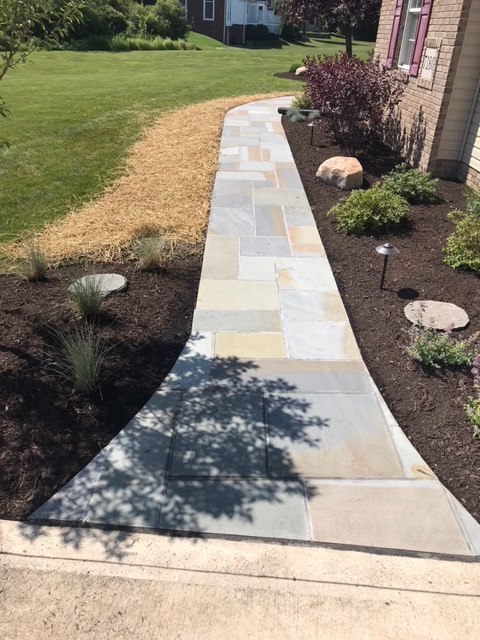 Landscaping Concrete Walkway Renovation by H&M Landscaping in Northeast Ohio