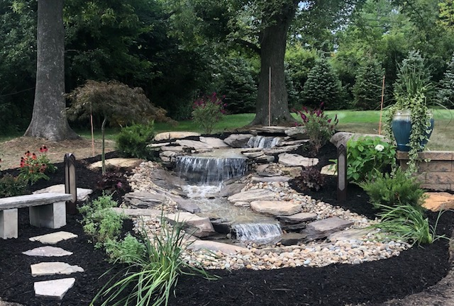 H&M Landscaping in Cleveland, Ohio designed this Water Garden - Cleveland Landscapers Blog- H&M Landscaping