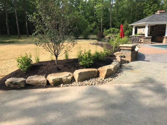 Cleveland Landscaping Design with Natural Stone