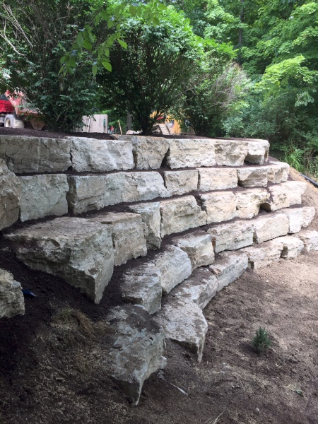 Natural Stone Retaining Wall Installation in Kirtland Ohio.jpg