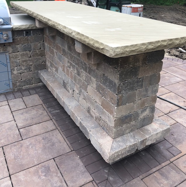H&M Landscaping Designs & Builds Outdoor Kitchen Bar in Cleveland