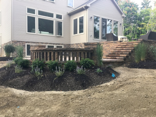 Patio Paver Walkway Installed near Cleveland Ohio