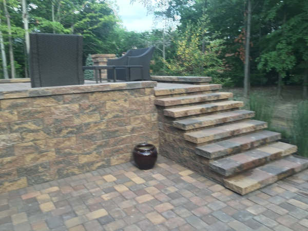 Patio Paver Walkway Installed in Solon Ohio