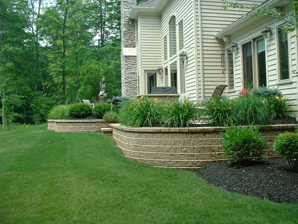 Stone & Paver Retaining Walls Built by our Cleveland Area Landscapers
