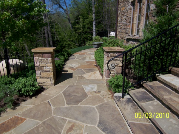 Landscape Pillars, Stoops & Treads Built by our Cleveland Area Landscapers
