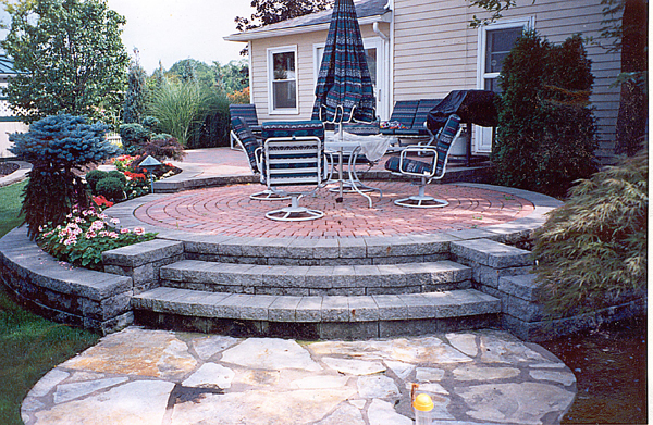 Stone Walks & Patios Installed by our Cleveland Area Landscapers
