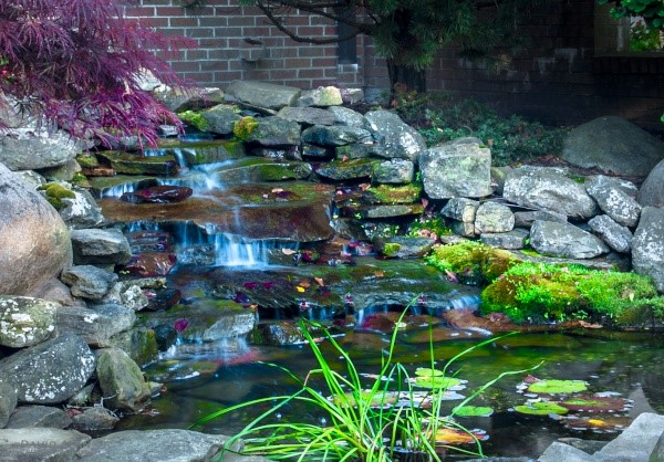 Water Features: Outdoor Fountains, Waterfalls, Ponds & Streams. Designed & Built by Cleveland's H&M Landscaping.