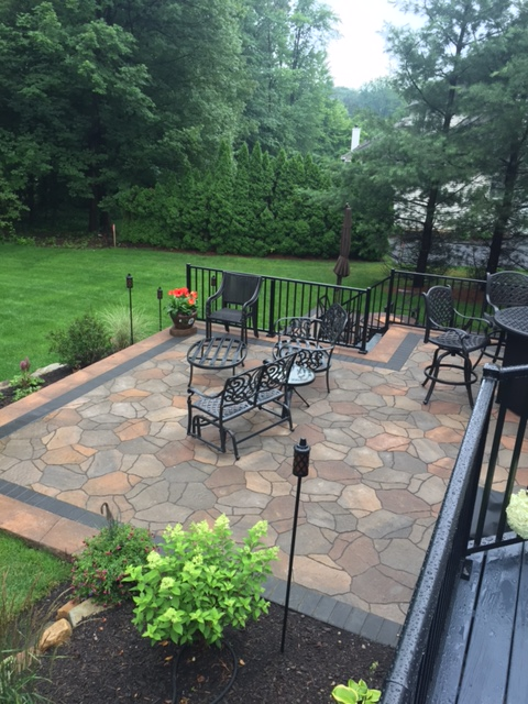 Two-tiered Landscape Patio in Bainbridge