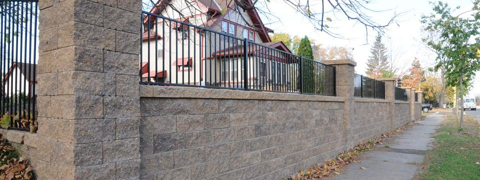 VERSA-LOK retaining wall installation