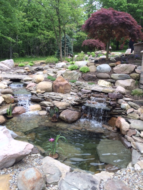 Landscape Waterfall Design and Installation near Cleveland